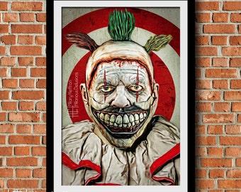 Twisty the Clown Digital Painting Print, American Horror Story: Freak Show, Season 4