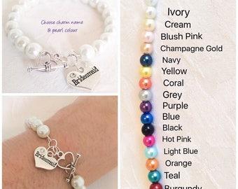 Bracelet, Pearl Bracelet, Bridesmaid Bracelet, Pearl Jewelry, Bridesmaid Gift, Weddings