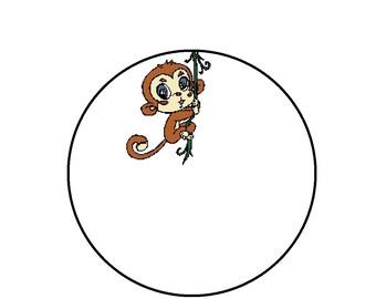 Counted Cross Stitch Pattern - Cute Kawaii Monkey