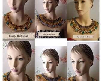 Egyptian Collar Beaded Necklace Handmade for Queen Cleopatra.