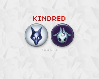 Kindred - Lamb & Wolf (Pin-Back Buttons)