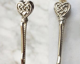 Celtic Heart Hair Pin Decorative Wedding Bobby Pin