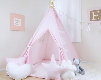 Mini Dot Bella White / teepee for kids / kids teepee / children teepee / teepee tent / play teepee / toddler tent / play tent / kids tent