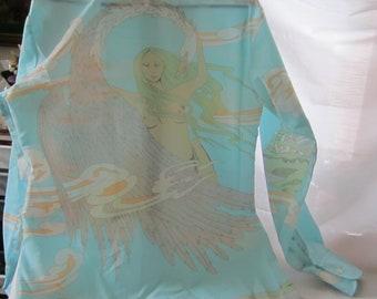Vintage Esprit Mans Shirt with Leda and the Swan on Back - Size M