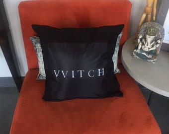 VVITCH Throw Pillow / The VVitch / Horror Home Decor / Horror Accessories / Gothic Home Decor / The Witch / Horror Pillows / Black Phillip