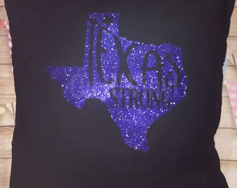 Texas Strong 20x20 pillow cover with pillow insert