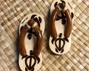 Wooden Slipper Magnet - Single piece or Pair