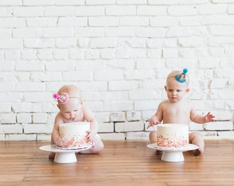 Twins Birthday Hats || Party Hat || First Birthday Hat | |Pink Girl Hat ||  1st Birthday Party Hat || Glitter Party Hat || Mini Party Hat
