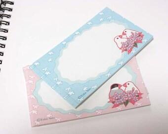 Yukie Sato Sets of 20 Mini Message Card Bird Java Sparrow (yukie-39) Price depends on order volume.