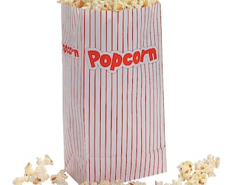 24 Paper Popcorn Treat Bags Kids Birthday Party Favors Circus Carnival Theater