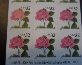 19 pink rose 32 cent  USPS postage stamps in mint condition.
