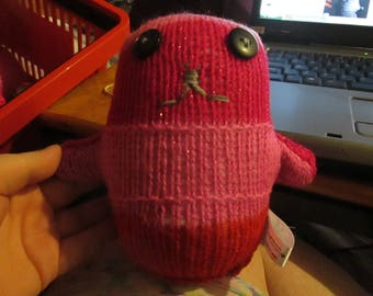 Two Tone Glittery Pink with Black Eyes Ted