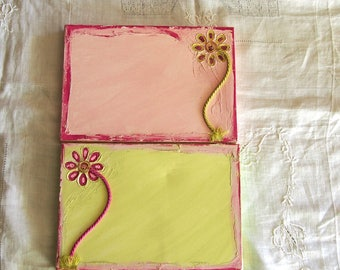 Set of 2 27 X 19 pre decorated frame