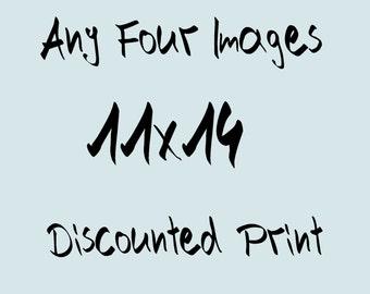 Photography: Four (4) 11 x 14 photographs of your choice, travel photo, Decoration Nursery, Photo nature, Shabby Chic