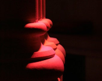 Three Columns, orange, red, line, abstract, black, Curve, 8x10, photograph