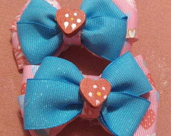 Strawberry Heart Bow