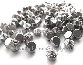 25pcs 8mm Textured Studs. RARE. Available in Rose Gold, Gun Metal, Silver, Yellow Gold, or Brass.Sew or Glue.1mm Hole.FAST Shipping from USA