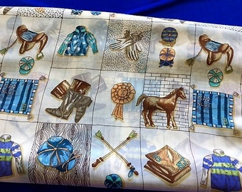ALL ABOUT HORSES Rayon Challis 10 Yards Fabric