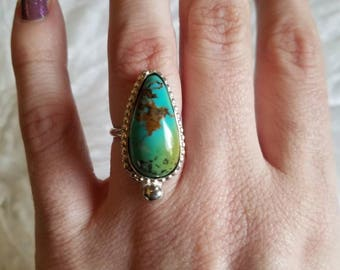 Turquoise & Sterling Silver Ring - Size 6
