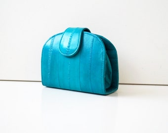 "Women's wallet, womens purse, leather wallet ""June"" in turquoise, genuine leather, wallet, purse, portemonnaie, handmade."