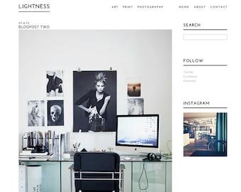 Blogger template 'Lightness'