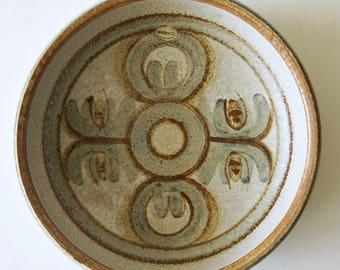 Mid Century stoneware bowl, made by Soholm Denmark