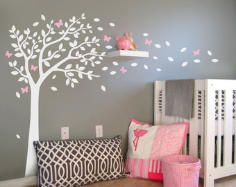 Nursery wall stickers Baby Tree with butterflies