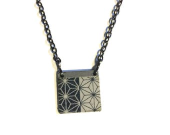 Japanese Star Asanoha Pattern Necklace