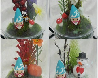 Gnome Seasons Ornaments
