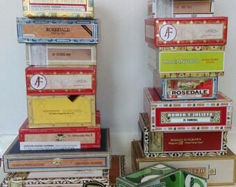 Cigar Box - A Paper-Label Covered Empty Cigar Box