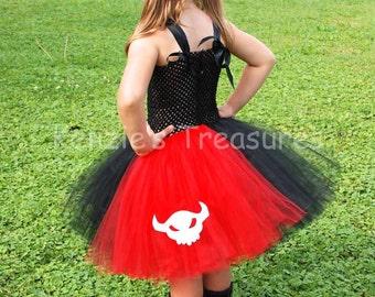 Toothless Dragon Tutu Dress - Size 2T to Gir's Size 6