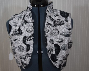 Steampuunk Bolero vest handmade, lined with white, size 12