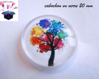 1 20mm theme tree of life domed glass cabochon