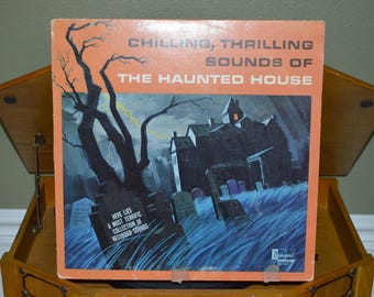 Vintage Disneyland Record: Chilling, Thrilling Sounds of the HAUNTED HOUSE Album DQ-1257