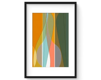 FREE FORM no.4 - Mid Century Modern Abstract Vessels Print