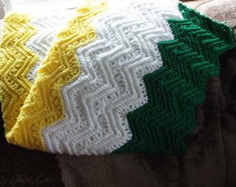 chevron striped afghan