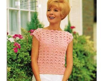 Vintage Pattern Crochet Top PDF Download.