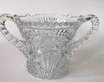 Vintage Pressed Glass Vessel
