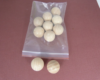 Bag of 10 without hole for home decor wooden balls