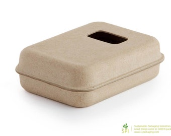 SMALL w/ WINDOW (GK-002) - Eco Friendly and Stylish Green Packaging for Soap, Jewelry, Gifts, Party Favors and more...
