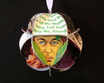 Beach Boys Album Cover Ornament Made Of Repurposed Record Jackets