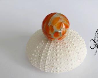 Orange Lampwork bead ring