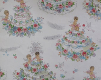 Vintage american greetings wedding gift wrap wrapping paper vintage american greetings wedding or bridal shower gift wrap wrapping paper angels and cakes m4hsunfo