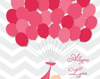 Baby Shower Guest Sign-In Print (Guestbook) - Multiple colors - Up to 30 guests NEW!
