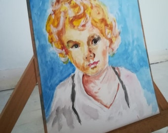 Original watercolor painting. Child - Sweet child of mine
