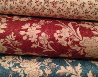 Fabric HALF YARD: Chamberlain - Civil War Floral - by Nancy Gere for Windham Fabrics