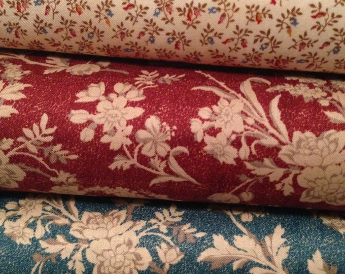 Fabric 1 YARD: Chamberlain - Civil War Floral - by Nancy Gere for Windham Fabrics