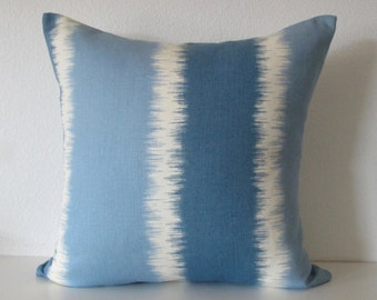 Thom Filicia Ikat Stripes 20x20 Throw Pillow Cover