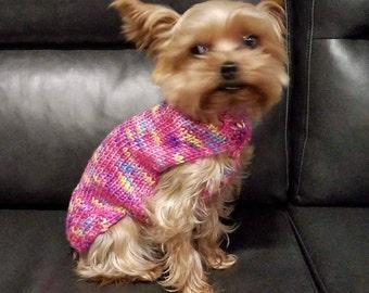 Hand Knit Turtleneck Dog Sweater