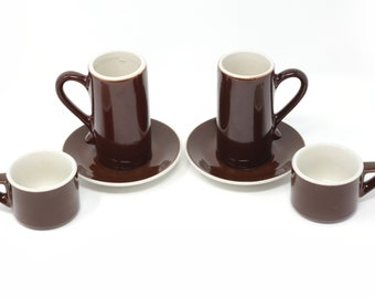 Vintage ACF Cappuccino/Demitasse Cups and Saucers - Set of 6